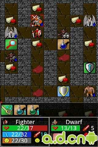 地牢主權精簡版Dungeon Ascendance FREE v2.0-Android益智休闲免費遊戲下載