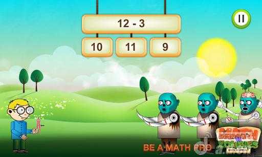 數學大戰殭屍 Math Vs Zombies v1.0.5-Android益智休闲免費遊戲下載