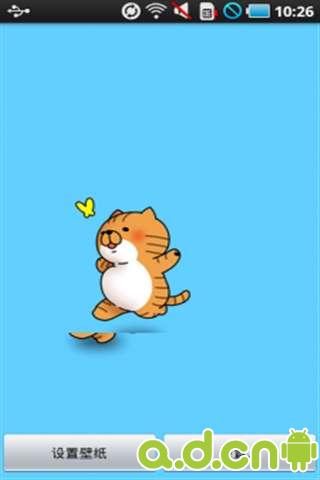这是一款可爱的小猫追蝴蝶的动态壁纸