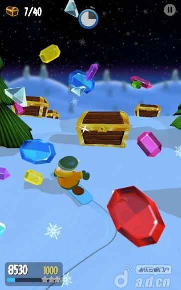 雪中飛舞 Snow Spin: Snowboard Adventure v1.0-Android益智休闲類遊戲下載