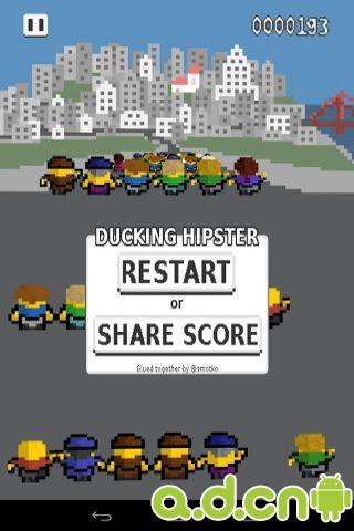 閃避人群 Ducking Hipster v1.4.2d-Android益智休闲免費遊戲下載