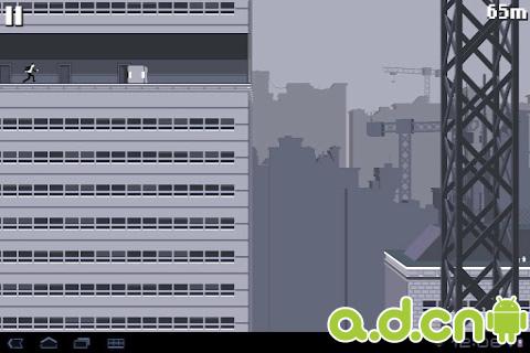 屋頂狂奔 v2.1,Canabalt HD-Android益智休闲遊戲下載