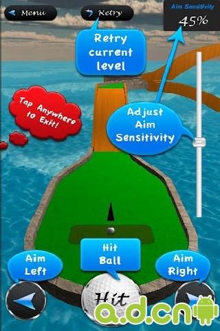 3D迷你高爾夫大師 v5.1,3D Mini Golf Masters-Android体育运动遊戲下載