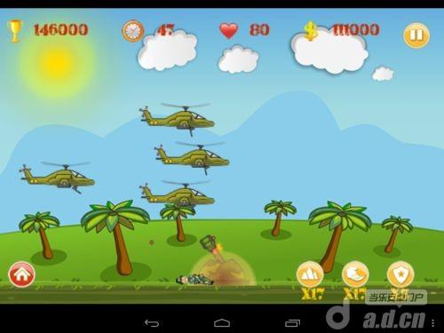 大砲直升機 Heli Invasion v1.20-Android射击游戏類遊戲下載
