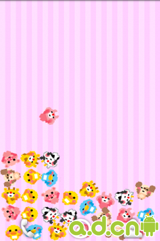 重力感应翻滚的可爱小动物动态壁纸