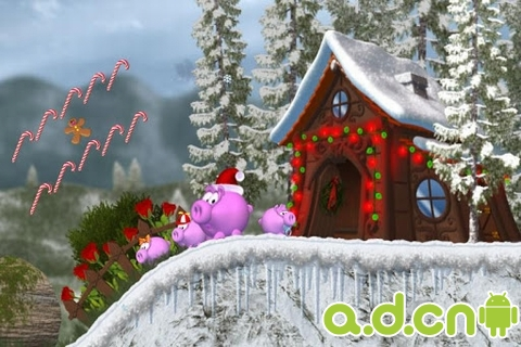 豬媽媽 耶誕節版 Piggly Xmas v1.01ggl-Android益智休闲遊戲下載