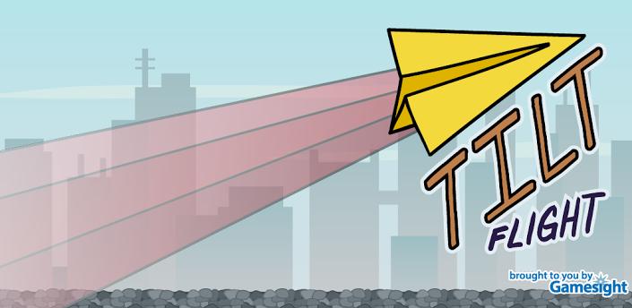 《重力纸飞机 tilt flight》是一款飞行游戏,使用重力感应控制纸飞机