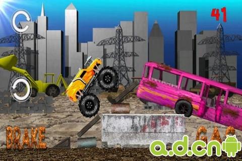 怪物卡車越野 Monster Truck Junkyard v1.10-Android益智休闲免費遊戲下載