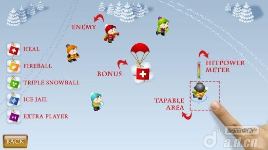 打雪仗 Snowfighters v1.1-Android益智休闲類遊戲下載