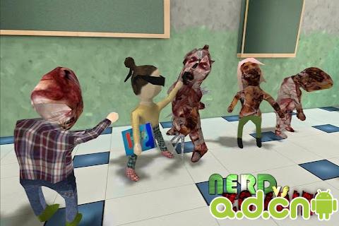 書呆子大戰殭屍官方中文版Nerd vs Zombies v1.107-Android角色扮演免費遊戲下載