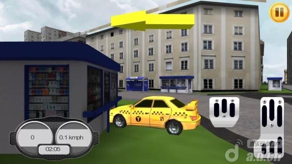 3D瘋狂計程車 Crazy Taxi 3D v1.0.0-Android竞速游戏免費遊戲下載