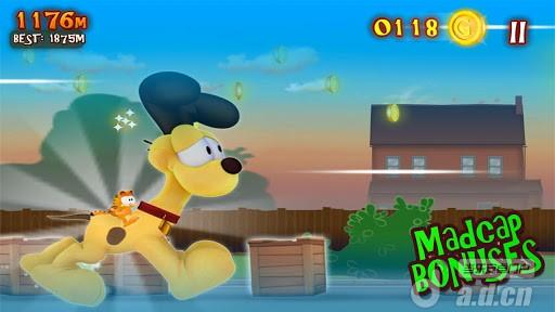 加菲貓的瘋狂冒險Garfield's Wild Ride v1.2-Android益智休闲免費遊戲下載