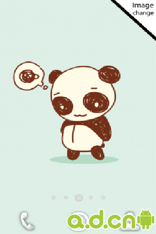 这是一款简洁可爱憨态可掬的小熊猫桌面动态壁纸