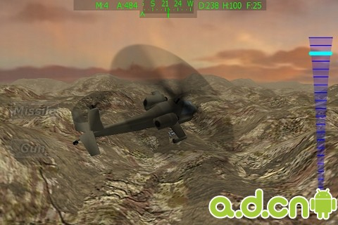 阿帕奇飛行 v1.2,Apache Chopper Pilot 3D HD