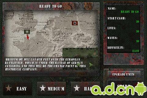 士兵榮耀二戰殭屍版WW II Defense Zombie Ver Free v1.2.8-Android策略塔防類遊戲下載