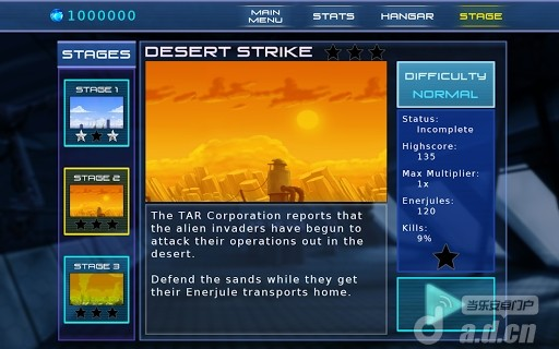 外星飛機精簡版Jets Aliens Missiles Demo v1.1.0-Android飞行游戏類遊戲下載