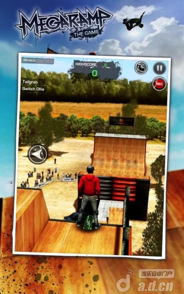斜坡特技大作戰(含資料包) MegaRamp Skate & BMX FREE v1.3-Android动作游戏免費遊戲下載