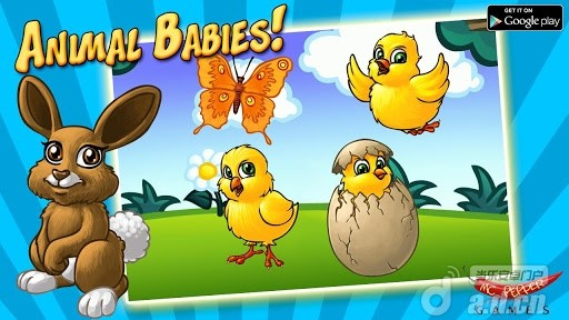 小动物拼图精简版Animal Babies LITE v1.2 Android益智休闲免费游戏