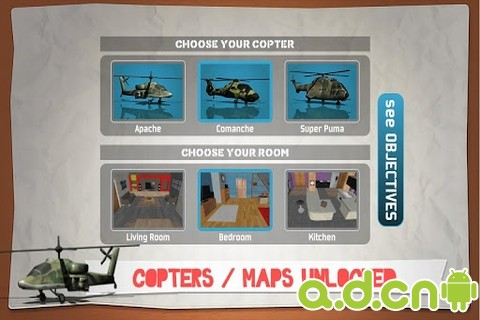 3D直升機空戰 完整版 v1.0.0,Helidroid Battle PRO : Copter