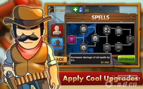牛仔傑德Cowboy JED-GO: Untouchable New v1.1.2-Android策略塔防免費遊戲下載