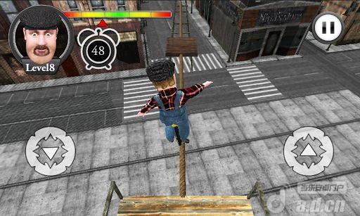 胖子鋼索單輪車3D Tightrope Unicycle Master 3D v1.5-Android益智休闲免費遊戲下載