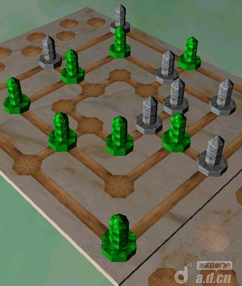 九子棋3D Free 3D Nine Men's Morris v1.0.5-Android棋牌游戏免費遊戲下載