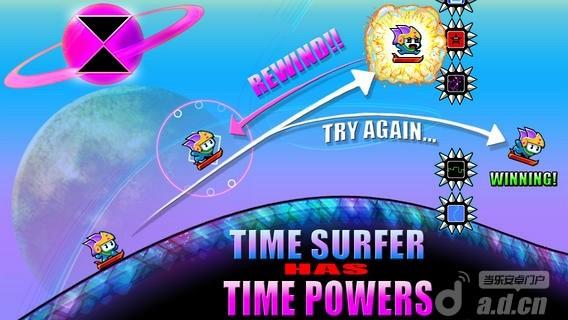時空衝浪手 修改版 Time Surfer v1.3.0-Android益智休闲免費遊戲下載