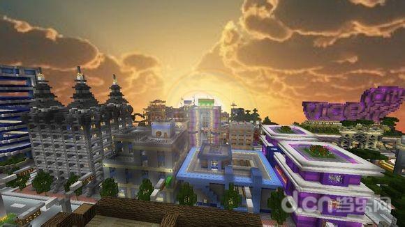 我的世界手机版超牛罪恶都市城市建筑地图