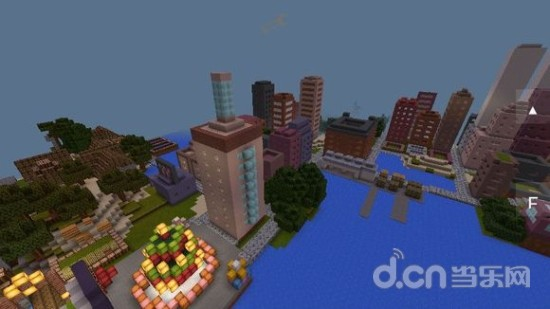 我的世界手机版地图存档:自由城