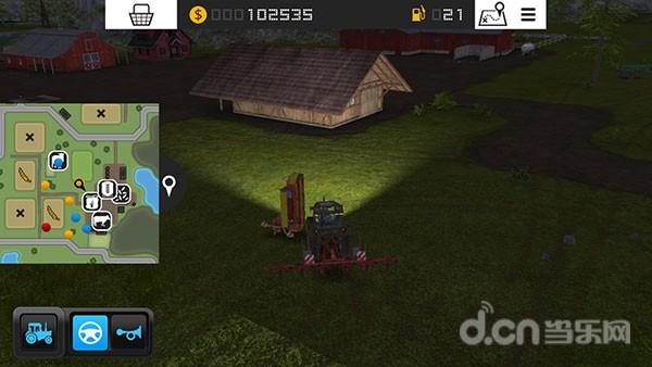 模拟农场16怎么收割牧草