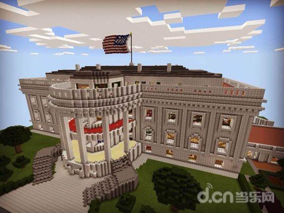 我的世界手机版建筑存档:美国白宫