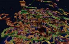 我的世界手机版建筑分享:彩虹过山车